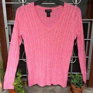 Lane Bryant soft cable knit v neck angora blend 1X